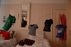 floating shirts (lovingemotionalart) Tags: bedroom floating multiplicity shirts tops cloaning