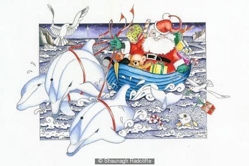 Dolphins (Santa) by Shaunagh Radcliffe