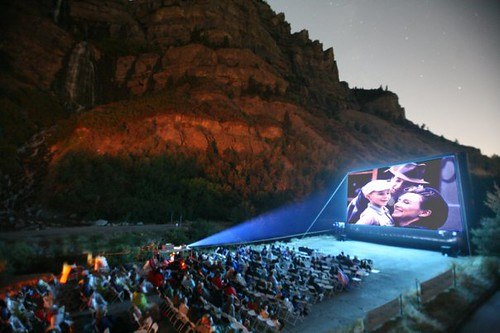 Outdoor Movies on an Inflatable Screen
