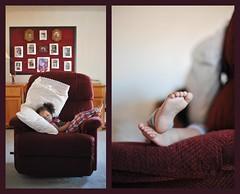 nap at lola's (diyosa) Tags: life diptych nap rockingchair