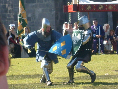 Knights battling