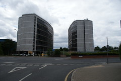 The Unisys Towers in Brent (Landie_Man) Tags: old london abandoned modern buildings mess looking decay towers brent blocks offices 19961997 uniosys