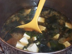 Ready to serve the miso soup