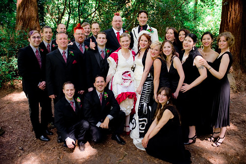the full wedding party