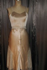 Handmade Champagne Silk Charmeuse Wedding Dress (Bobbins and Bombshells) Tags: champagne retro weddingdress custom frenchlace silkcharmeuse bobbinsandbombshells