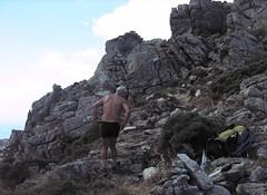 Col de Morello : départ de la crête de Compolelli