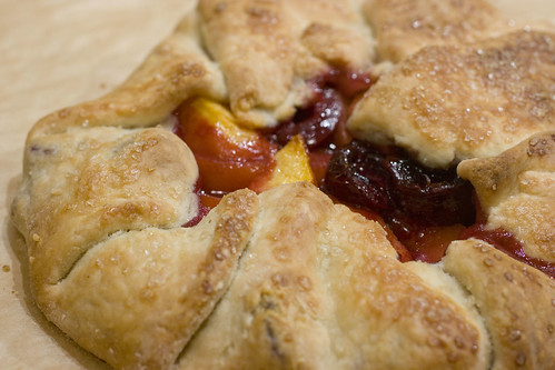 Peach and Cherry Galette 2