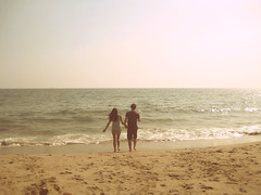Day one hundred and nineteen. (celeste li) Tags: cute love beach sand couple waves horizon holdinghands celeste 365project threesixtyfive celestephotography
