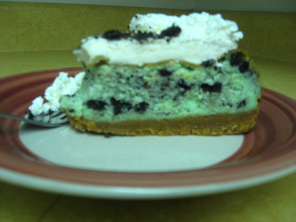Mint Oreo Cookie Cheesecake