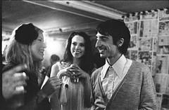 Smiles (AndyWilson) Tags: party slr film 35mm magazine brighton kodak tmax manual launch 3200 fujica 3200asa stx1 gangup oldmusiclibrary