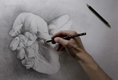 Inspired by Photography (jurvetson) Tags: art hands handmade drawing icelandic rebekka