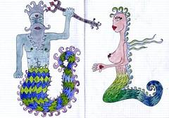 Neptune and the mermaid 2009 william vecchietti