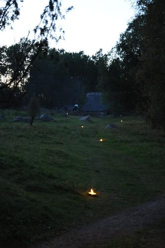 暗くなったら蠟燭