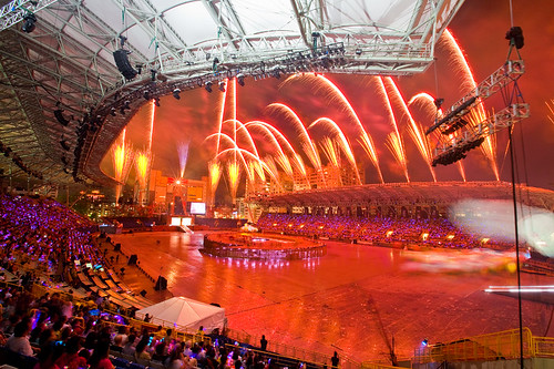 2009 Summer Deaflympics Opening Rehearsal Fireworks 聽奧開幕預演煙火