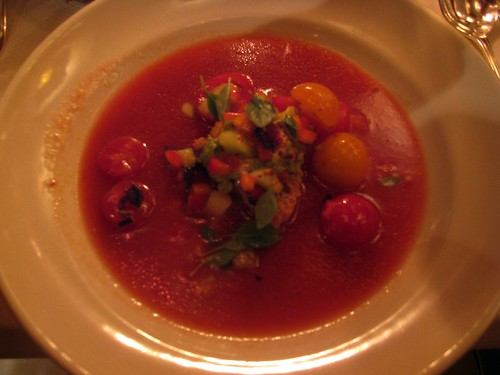 Chez Panisse - August 2009 - Chilled tomato and cucumber soup with avocado