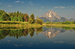 Another Mirror Moment at Mount Moran (Jeff Clow) Tags: reflection water river raw explore wyoming mountmoran frontpage grandtetonnationalpark oxbowbend 1exp jacksonholewyoming jeffrclow