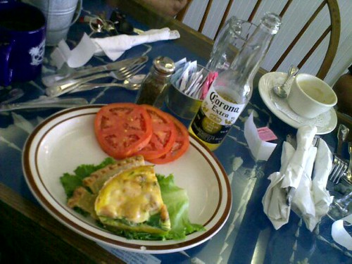Sanibel Cafe's shrimp quiche