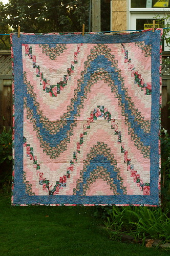 Bargello lap quilt