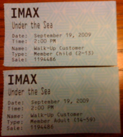 IMAX tickets