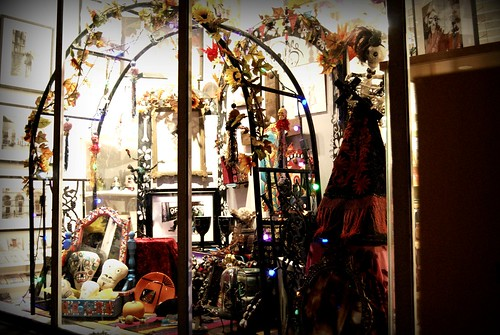 Dia de los Muertos Display at a shop - Abbot Kinney - First Friday - 10/2 by you.