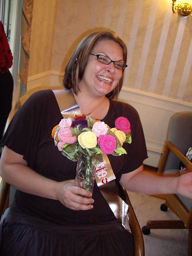 Sunni with her Bouquet
