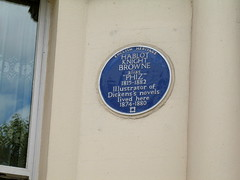 Photo of Hablot Knight Browne blue plaque