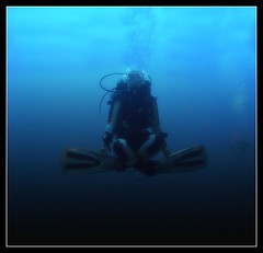 Floating (RamJet.) Tags: scuba diving bluehole deepblue flickrsbest