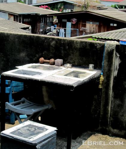 Developing Cyanotypes on Bangkok Rooftop