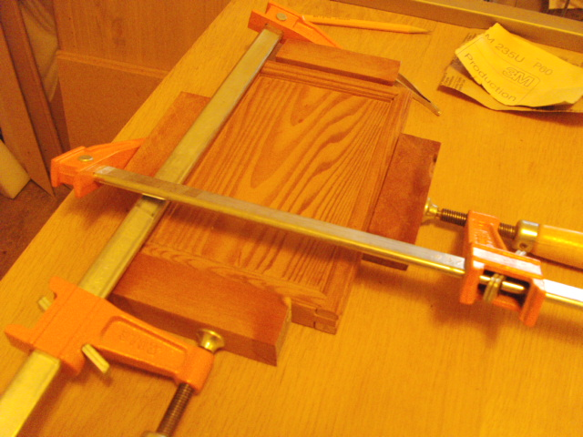 Clamp-up of filler strips