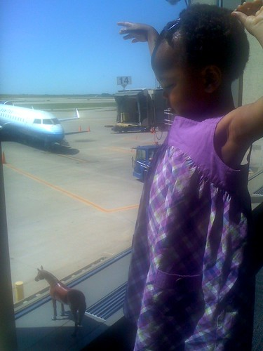watching for ababi's plane