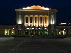 Tampere Theatre (Leo-set) Tags: city 2002 vacation building architecture night finland europe theater finnland theatre culture tampere finlandia  finlande soome tammerfors  finska                finlndi   phinsuyu