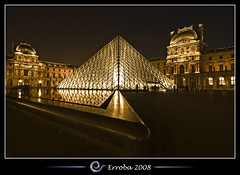 Angled @ The Louvre, Paris, France :: Long Exposure (Erroba) Tags: longexposure paris france water photoshop canon rebel gold pyramid belgium louvre tripod sigma tips remote 1020mm erlend cs3 29s xti 400d erroba robaye erlendrobaye