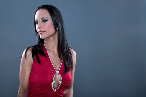 Studio Portraits - Girl in Red Dress