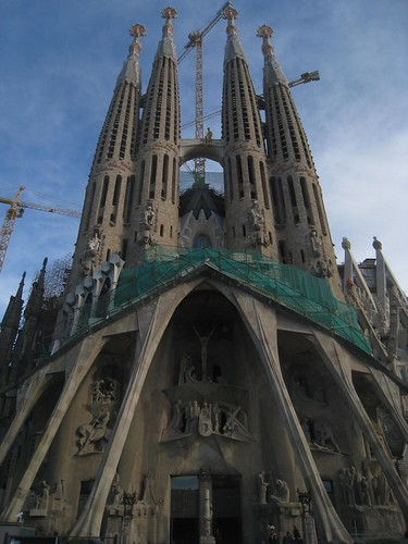 The southern facade of La Sagrada Familia