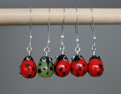 Ladybird stitch markers