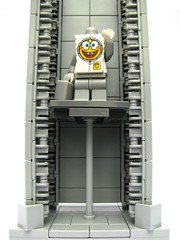 Off to the moon Patrick...offf to the mooon (Karf Oohlu) Tags: toy lift lego elevator cartoon spongebob sponge spongebobsquarepants spaceelevator squarepants moc tothemoon spacelift launchpadelevator launchpadlift