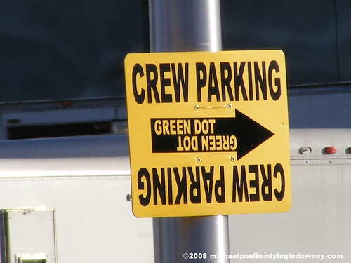 Crew Parking Signs Like This Are Common Sites Near Film Locations (Photo: Michael Poulin)