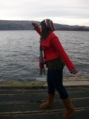 Me on Luss Pier (wee_lissa) Tags: portrait funny lissa lochlomond lusspier