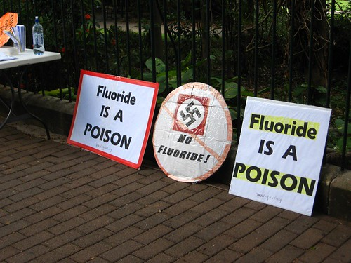 Anti fluoride protest posters by Ben Kraal.