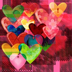 Hearts Entwined (Joana Roja - work and migraines - coming back..) Tags: holiday colors hearts abstractart valentines tistheseason citrit theunforgettablepictures colourartaward theawardtree amazingeyecatcher miasbest struckbyrainbow