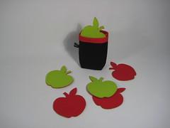 Onderzetters appel (maggiealfrink) Tags: appel onderzetters wolvilt maggiemaakt