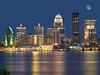 Louisville Skyline with Moon (gregmacg) Tags: moon skyline louisville ourkentucky
