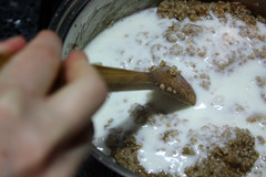 Steel-Cut Oatmeal - Adding Buttermilk