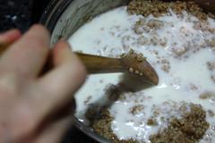 Steel-Cut Oatmeal - Adding Buttermilk
