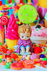 Sickly Sweet (boopsie.daisy) Tags: boy ice tooth puppy dessert colorful sad candy little sweet cone cream kitsch cupcake pout daisy sweets doggy lollipop gluttony fruitloops boopsie boopsiedaisy