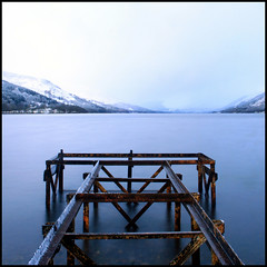 Over (angus clyne) Tags: longexposure morning snow cold st dawn scotland perthshire loch flikcr earn lochearn stfillans snowshowers fillans mywinners platinumphoto uglypier