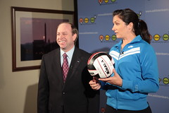 """Attorney General John Suthers and Misty May Treanor (century council) Tags: usa john dc washington general may listen """"beach scenes"""" """"john council"""" """"professional """"century general"""" """"behind """"misty may"""" athlete"""" """"volleyball"""" suthers"""" """"attorney """"ask learn"""" treanor"""" volleyball"""" """"attorneys"""