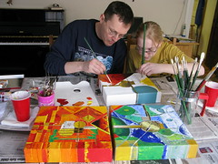 Esther and Steve painting