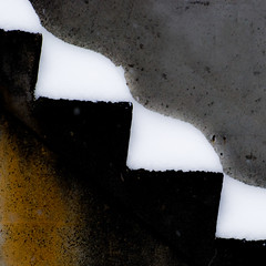 curves & points (dotintime) Tags: snow wall stairs point rust angle gray cement steps wave abstraction curve porous