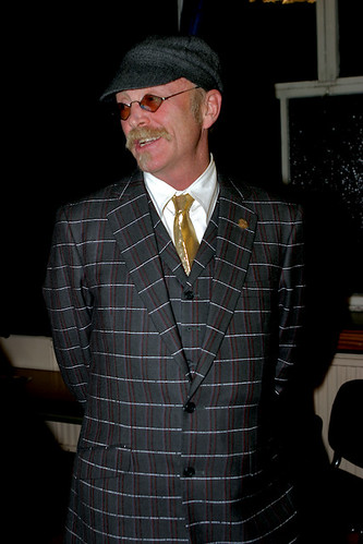 Gary Fisher in his Dashing Tweeds cycling suit